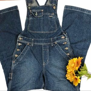 Silver Jeans Overalls Flare Leg Dark Wash Fitted 5